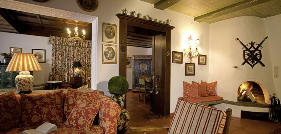 Hotel Haldenhof, Lech, Austria - Lounge area with open fire place.jpg
